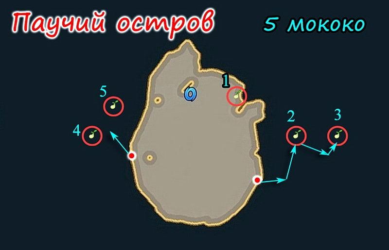 Паучий остров в Лост Арк: все семена мококо