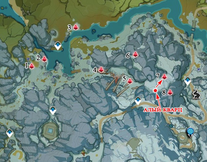 северная часть локации с агатами