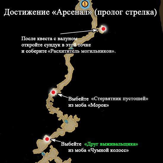 арсенал пролог стрелка карта