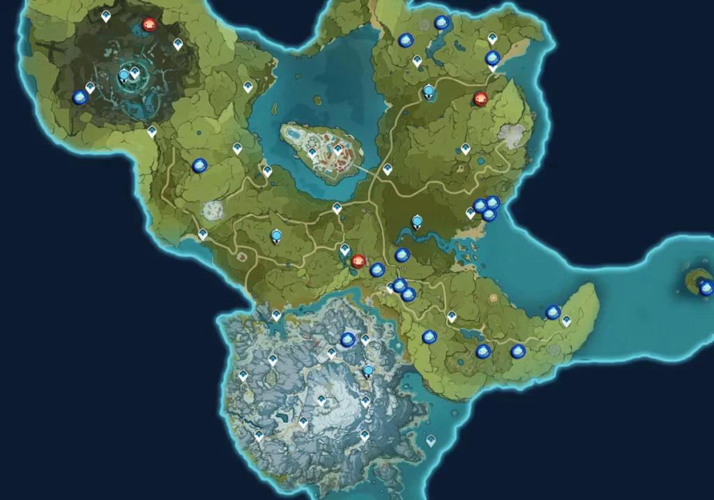 карта попрыгуний мондштадт